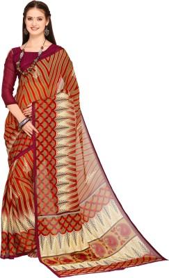 Oomph! Geometric Print Bollywood Georgette Saree(Multicolor)