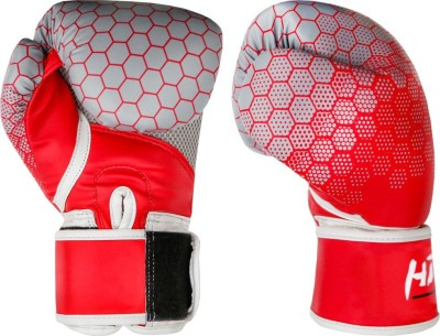 Hitman By Triumph Blue Printing force PU Boxing Gloves Size: 8 Boxing Gloves(Red)