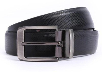 ZORO Men Formal, Party, Casual Black Artificial Leather Reversible Belt