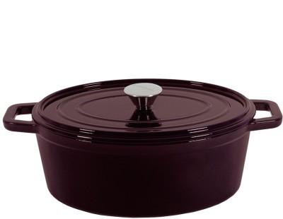 Wonderchef Ferro Cast iron Oval with lid 29cm Cook and Serve Casserole 4.2 L Wonderchef Cook   Serve Casseroles