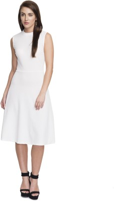 Addyvero Women A-line White Dress