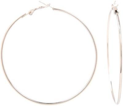GoldNera Silverite Bali Medium Size Alloy Hoop Earring GoldNera Earrings