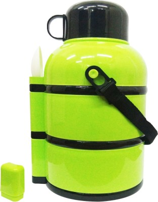 BUY SURETY HIGH STYLISH INSULATED WITH HOT AND COLD WITH ,LEAK PROOF ,AIRTIGHT,DRINK CONTAINER ,SPOON CONTAINER WITH SPOON COVER INCLUDED 1 SPOON , 3 LAYER round LUNCH BOX FOR SCHOOL/OFFICE/COLLAGE/TRAVEL/ CAPACITY-900 ML 3 Containers Lunch Box(900 ml)