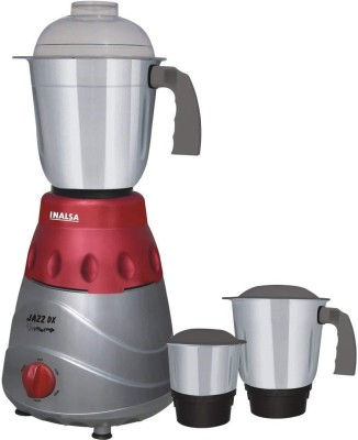 Inalsa NA Jazz Dx 750 W Mixer Grinder (3 Jars, Maroon, Grey)