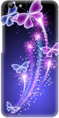 PNBEE Back Cover for Vivo Y69, 1714 -Blue Butterfly Printed Back Case Cover(Multicolor, Hard Case)