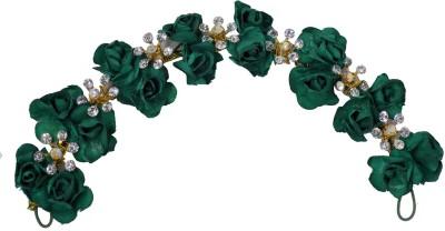 Majik Flower Shape Hair Gajra Accessories For Girls Use Bun(Green) Flipkart
