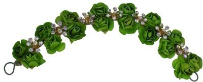 Majik Hair Flower Design Gajra For Bun Making, Used For Women And Girls, Green Bun(Green) Flipkart
