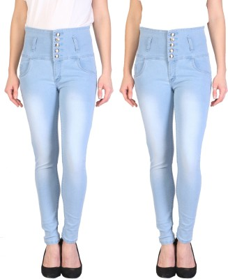 Fellamo Slim Women Light Blue Jeans