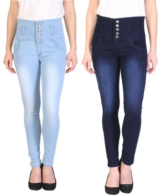 Ajaero Slim Women Light Blue Jeans