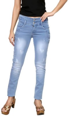 Oriex Slim Women Light Blue Jeans