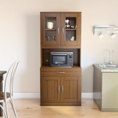 Home Full Kelvin Engineered Wood Kitchen Cabinet(Finish Color - WENGE)