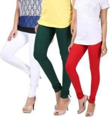 CN Fashion Churidar  Legging(White, Green, Red, Solid)