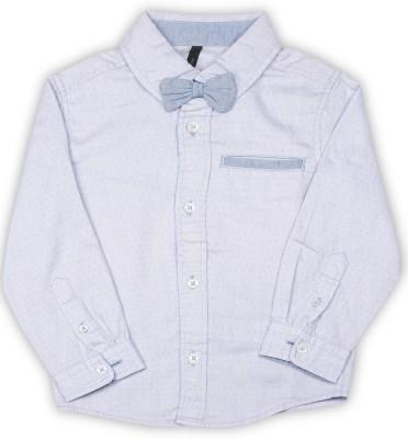 United Colors of Benetton. Boys Self Design Casual Light Blue Shirt at flipkart