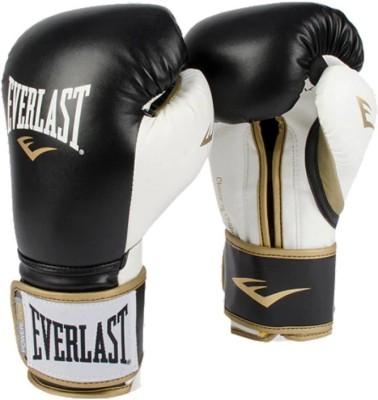 EVERLAST POWERLOCK HOOK   LOOP TRAINING GLOVES  Black / Gold  Boxing Gloves BLACK / WHITE EVERLAST Boxing Gloves
