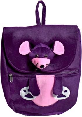 Ultra Mouse Face Soft Toy School Bag School Bag Purple, 14 inch Ultra School Bags