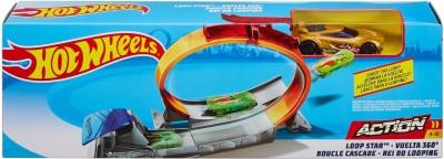 Hot Wheels Loop Star Stunt Set(Multicolor)