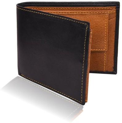 Bizarre Kraftz Men Black Genuine Leather Wallet 10 Card Slots