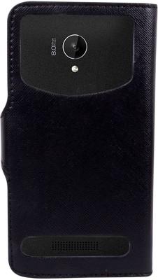 CHAMBU Flip Cover for Intex Aqua Lions 4G(Black, Shock Proof, Artificial Leather)