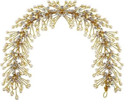 Majik Pearls Design Bridal Girls Bun Maker Hair Gajra / Party Wear White & Golden Beads Juda Decroation Hair Accessories Hair Accessory Set (Gold, White) Bun(Gold, White) Flipkart
