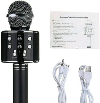 Clairbell EVQ_417E_858 MIC gionee Portable Wireless Karaoke Handheld Condenser Inbuilt Speaker Microphone with Audio Recording ||So Best and Quality Compatible with all your devices (samsung, Oppo, Vivo, Gionee, Xiomi, Sony, Philips, Motorola) Microphone