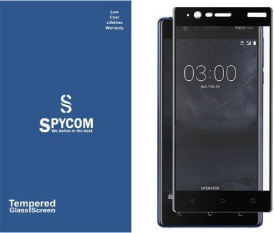 SpyCom Edge To Edge Tempered Glass for Nokia 3(5D Tempered Glass)(Pack of 1)