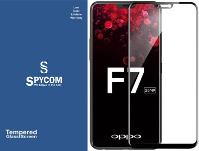 SPYCOM Edge To Edge Tempered Glass for OPPO F7(Pack of 1)