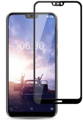 BlackBug Tempered Glass Guard for Nokia X6 (2018) (Black) Screen Protector,Screen Guard,(Clear HD) 0.3mm, 2.5D(Pack of 1)