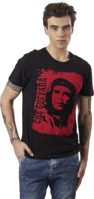 Che Guevara By Free Authority Graphic Print Men Round Neck Grey T-Shirt