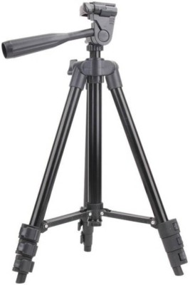 Piqancy Tripod 3120, Full Black Portable Tripod 1020 mm Long 4 Section Adjustable 3 Way Pan & Tilt Tripod For Dslr | Mobile | Gopro Action Camera | Digital - Light Weight Tripod(Black, Supports Up to 500 g) 1