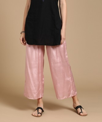 W Regular Fit Women Pink Trousers