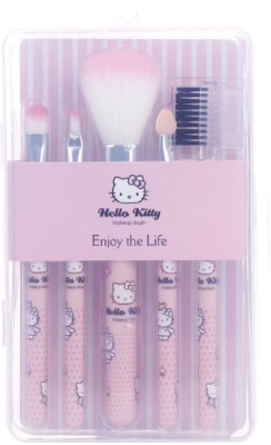 Hello Kitty Makeup Brush Set of 5 With Box (Pink)(Pack of 5)