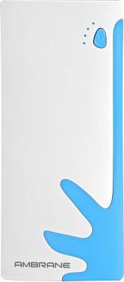 Ambrane 10000 mAh Power Bank (P-1122, NA)(White, Blue, Lithium-ion)