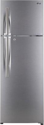 LG 260 L Frost Free Double Door 3 Star Refrigerator(Dazzel Steel, GL-C292RDSU) at flipkart