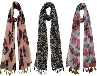 FusFus Floral Print Chiffon Women Stole