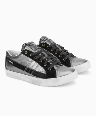 Diesel D-VELOWS D-STRING LOW Sneakers For Men(Black, Grey) at flipkart