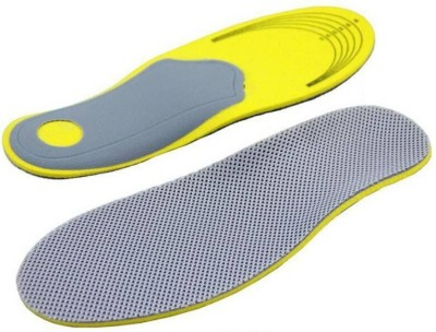 AGE CARE 3D Premium Comfortable Shoes Orthotic Insoles Inserts High Arch Support Pad For Women Men (Size L) Foot Support (L, Yellow)