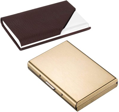 huge selection of 22939 056d0 Flipkart SmartBuy Combo of 1 Matt Golden ATM Special Edition & 1 Divine  Splendid ATM / ID / DEBIT / CREDIT / VISITNG 10 Card Holder(Set of 2, ...