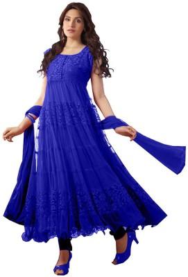 FabTag - Fadattire Net Self Design Semi-stitched Salwar Suit Dupatta Material