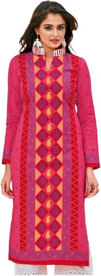 Giftsnfriends Cotton Printed, Embroidered Kurta   Palazzo Material Unstitched Giftsnfriends Women's Dress Materials