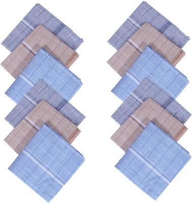 Kuber Industries Cotton 12 Pieces Handkerchief set (Multi) Handkerchief(Pack of 12)