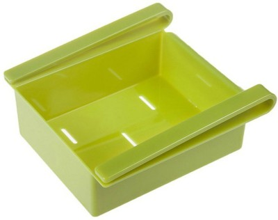 Cubee Multi Purpose Fridge Storage Shelf For Easily Maintaining Your Extra Meals, Sweets, Chocolates, Double Up Your Space in Refrigerator Plastic Kitchen Rack(Green) at flipkart