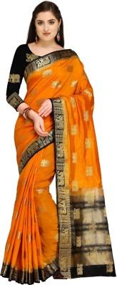 Rajnandini Woven Kanjivaram Raw Silk Saree(Mustard)