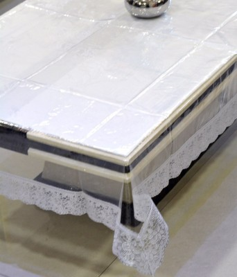 Home And Craft Abstract 4 Seater Table Cover White, PVC