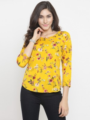 DARZI Casual 3/4th Sleeve Floral Print Women's Multicolor Top