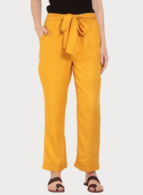Rare Regular Fit Women Yellow Trousers