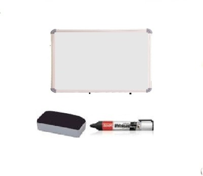 Action World Non Magnetic PLASTIC gloxy white VERY SMALL Whiteboards and Duster Combos(Set of 1, White)