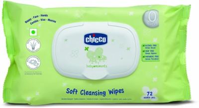 Chicco Fliptop Baby Wipes, 72 Pieces