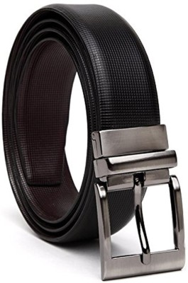 Tamanna Men Casual Brown Genuine Leather Reversible Belt
