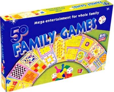 Wishkart 50 CLASSIC FAMILY BOARD GAMES In a Single Pack Board Game