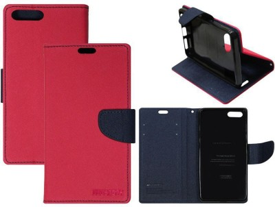 Casotec Flip Cover for OnePlus 5 Pink Casotec Plain Cases   Covers
